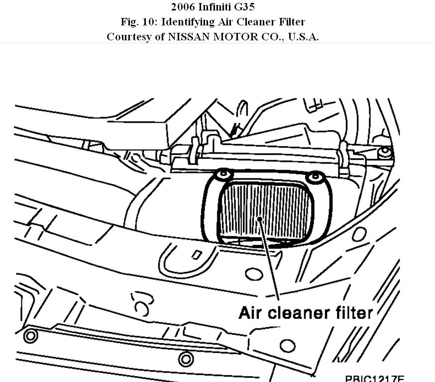 G35 Air Filter: How to Change 2006 G35 Air Filter