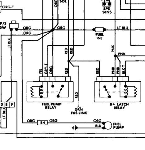 1997 jeep tj fuel pump wiring diagram  center wiring