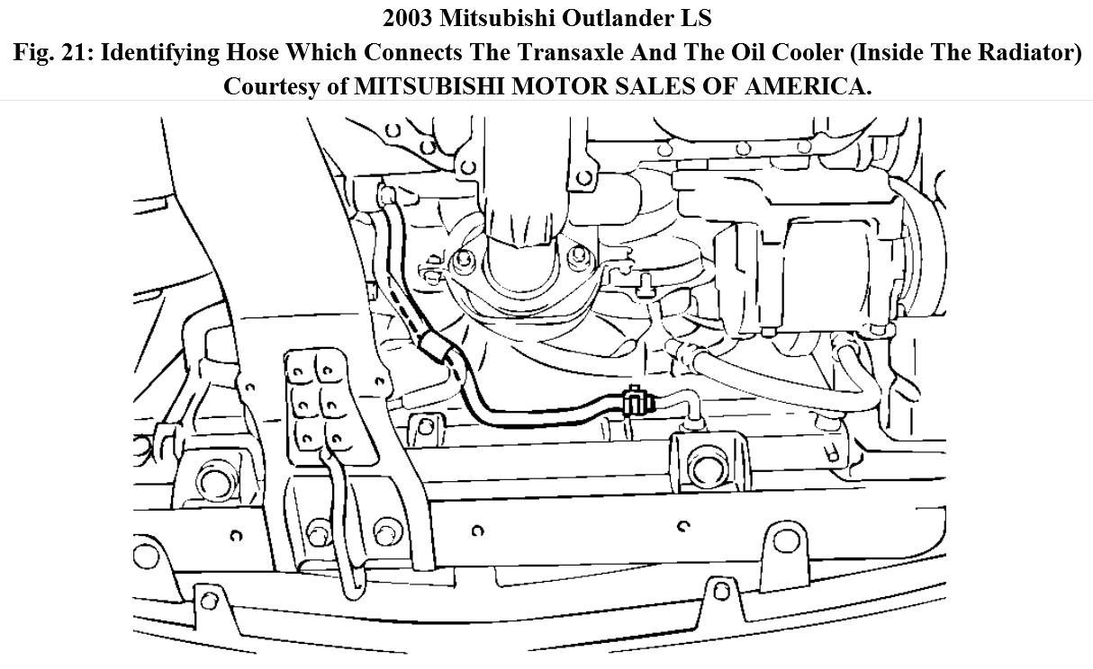 Mitsubishi Outlander 2007 Radiator Parts Diagram