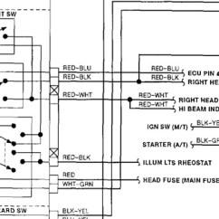 Four Way Light Switch Diagram 7 Pin Caravan Socket Wiring Headlight Relay: I Have A 1991 Mazda B2600 Se-5. My ...