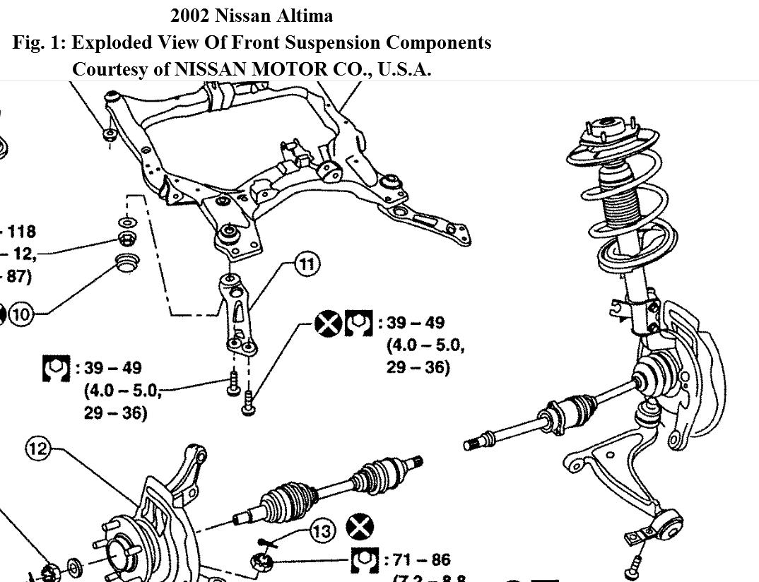 hight resolution of nissan altima suspension diagram