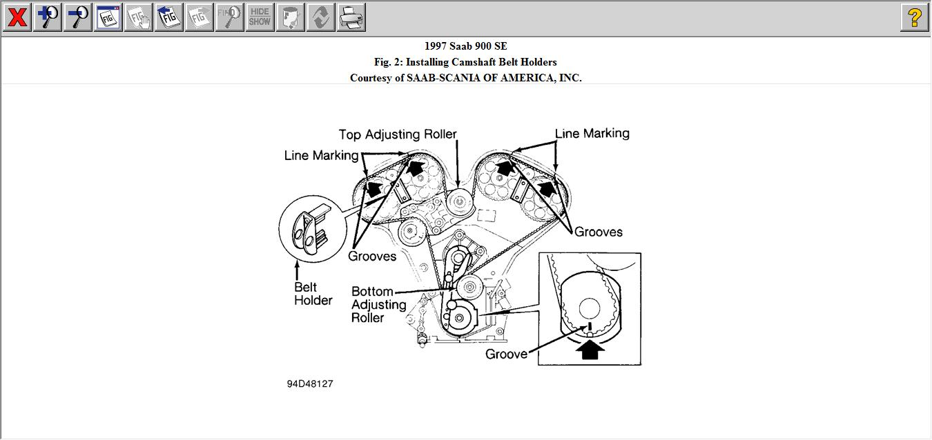 Service manual [How To Replace Timing Belt 1995 Saab 900