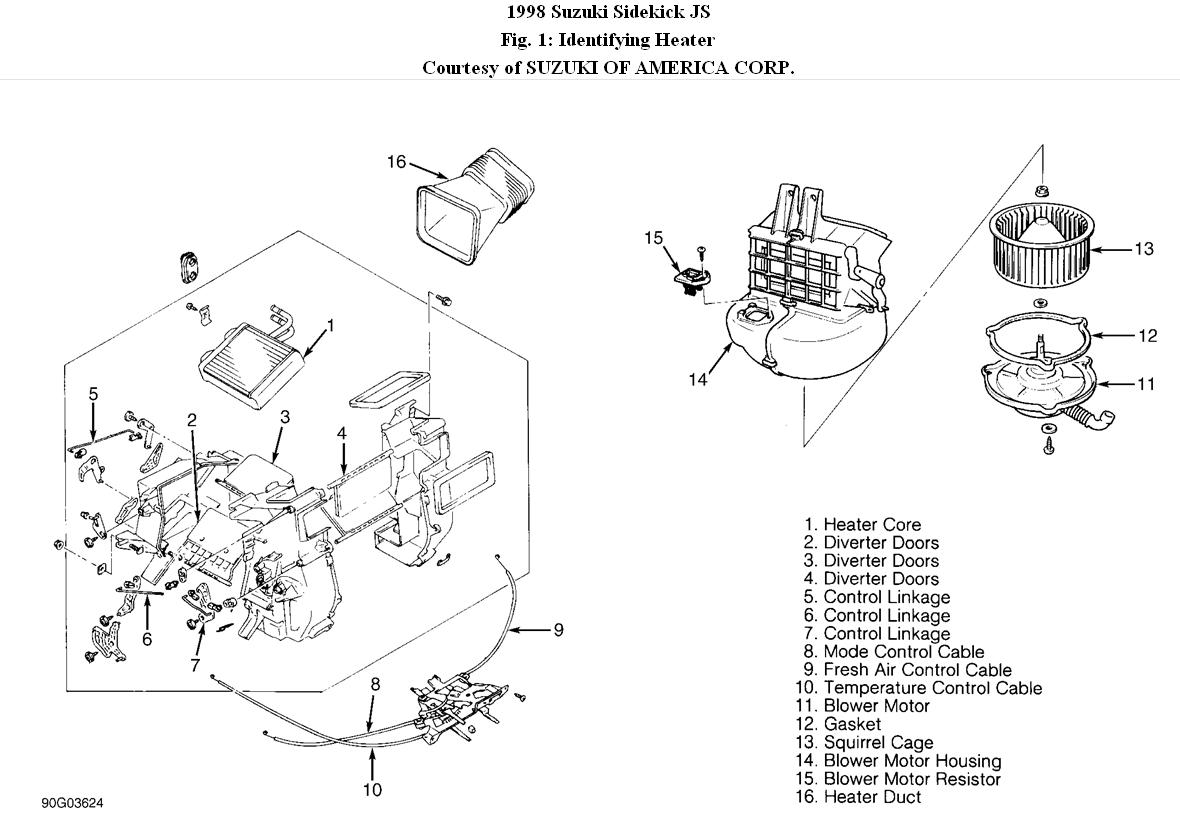 Service manual [Blower Motor Removal On A 1998 Suzuki