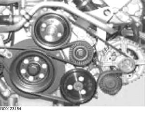 2001 BMW 525i Serpentine Belt Routing and Timing Belt Diagrams
