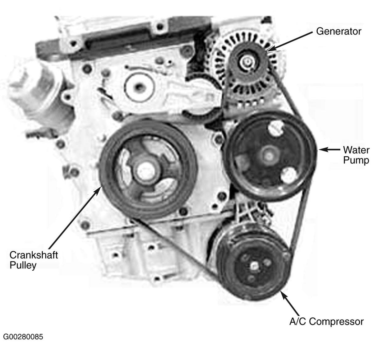hight resolution of serpentine and timing belt diagrams