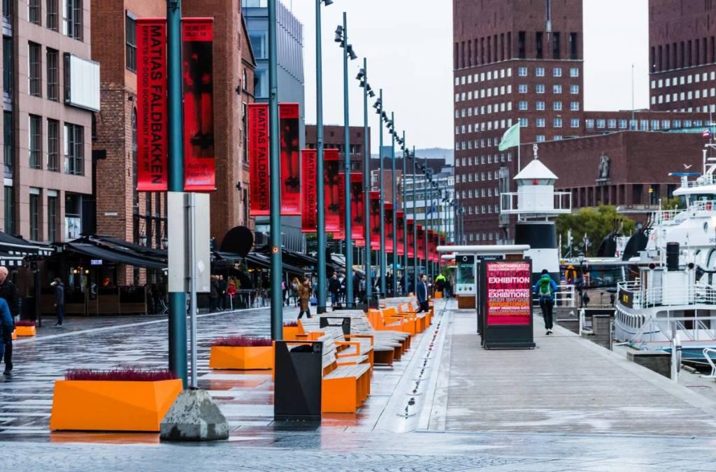 Oslo bei Regen