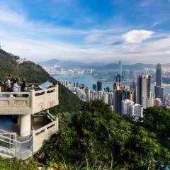Blick auf Hongkong vom Lion Pavilion