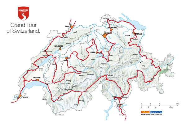 Karte Grand Tour of Switzerland