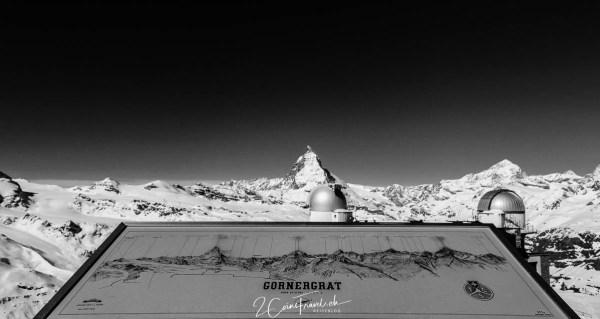 Panoramakarte und Matterhorn