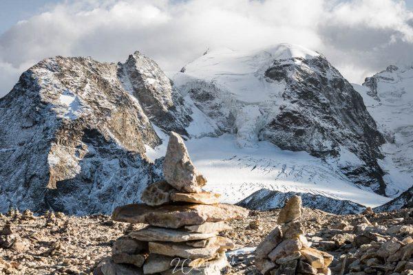 Saas Queder und Gletscherblick