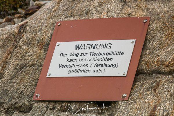 Warnung Wanderweg