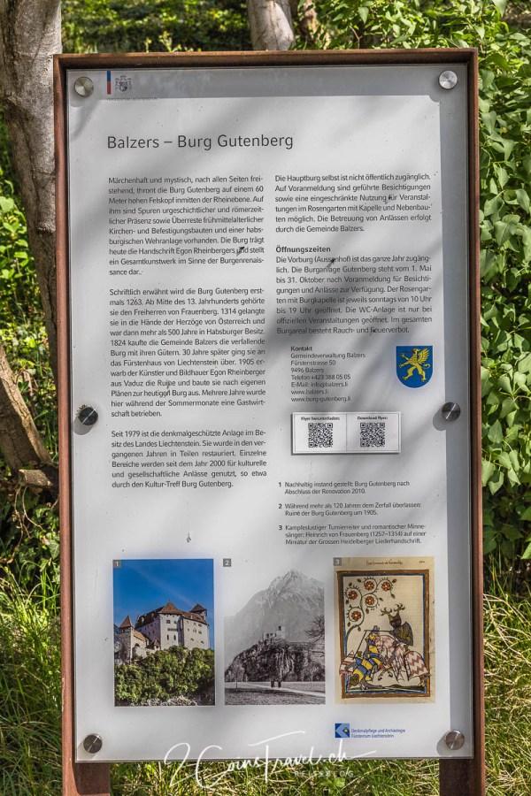 Informationstafel Gutenberg
