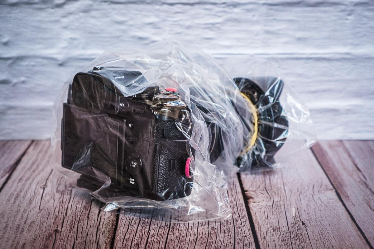 Proteggere la fotocamera Sacchetto freezer
