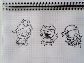 Los dibujos de los personajes