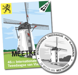 De Poldermolen in Meetkerke siert in 2015 de badge en medaille