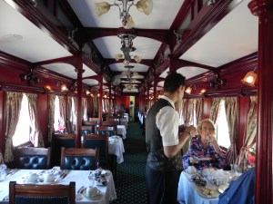 Inside the dinning carriage