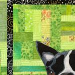 quilted fabric pet portrait quilting detail