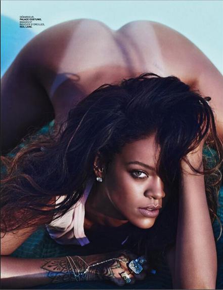 rihanna lui spread 04 Rihanna Goes Topless Says F*ck Clothing For Lui Magazine