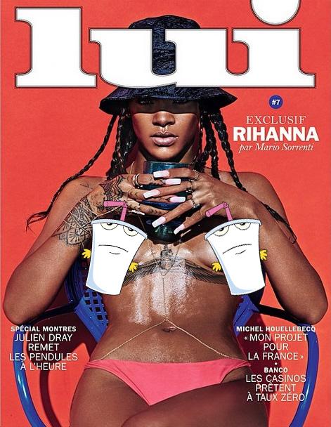 rihanna lui Rihanna Goes Topless Says F*ck Clothing For Lui Magazine