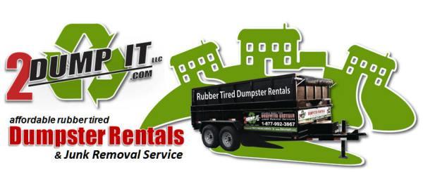 2 DUMP IT Rubber Tired Dumpster Rentals