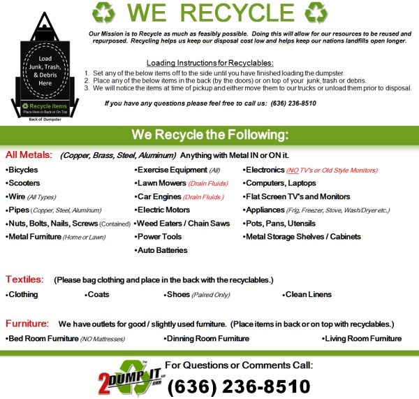 2 DUMP IT, LLC Recycling