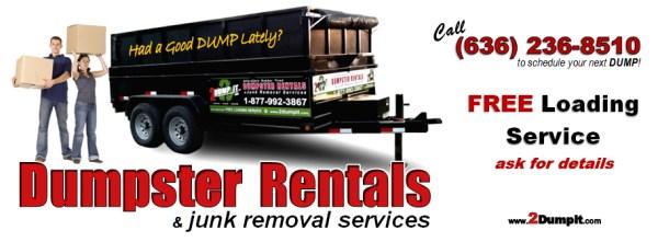 2 DUMP IT Free Loading Service - Dumpster Rentals