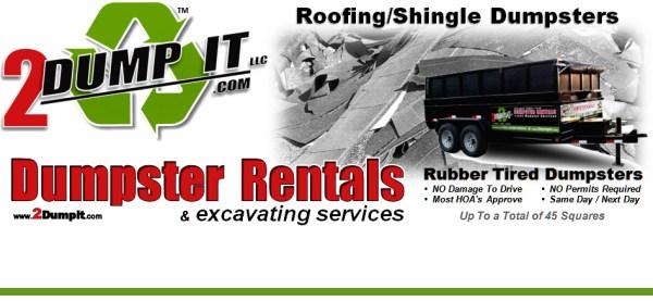 2 DUMP IT Dumpster Rentals - Roofing / Shingle Dumpster St Louis MO