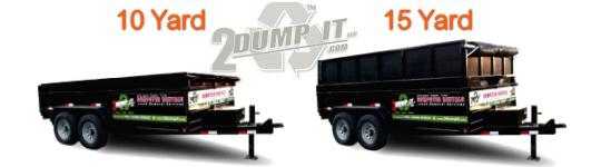 2 DUMP IT Rubber Tired Dumpsters