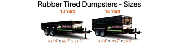Rubber Tire Dumpster Sizes