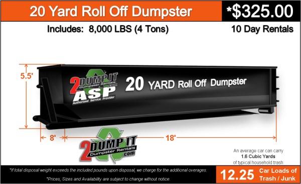 20 Yard Roll Off Dumpster