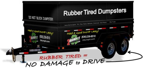 Rubber Tired Dumpster - Wheeled Dumpster