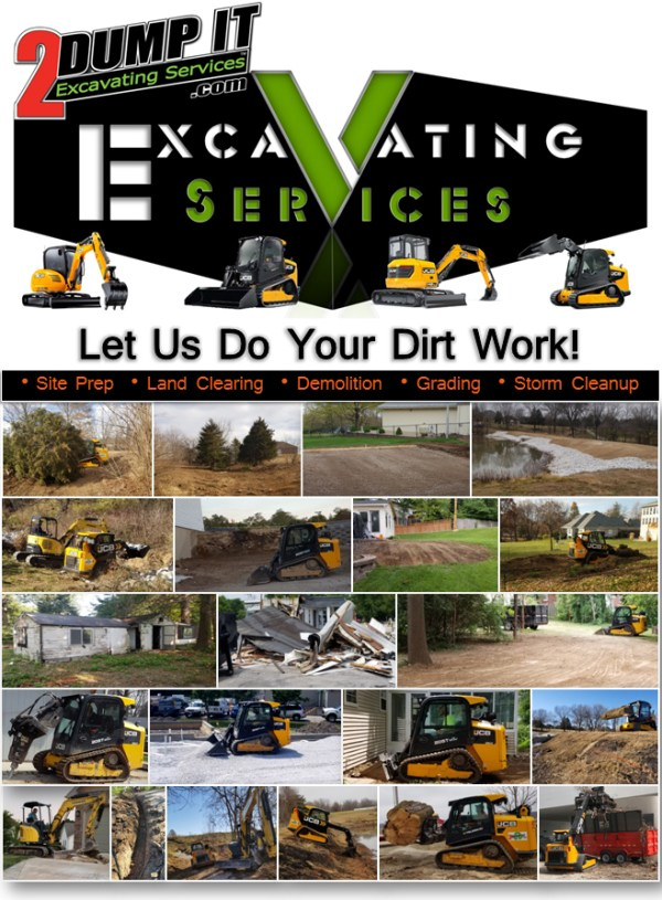 Excavating Services - Site Prep - Land Clearing - Demolition - Grading - Storm Cleanup