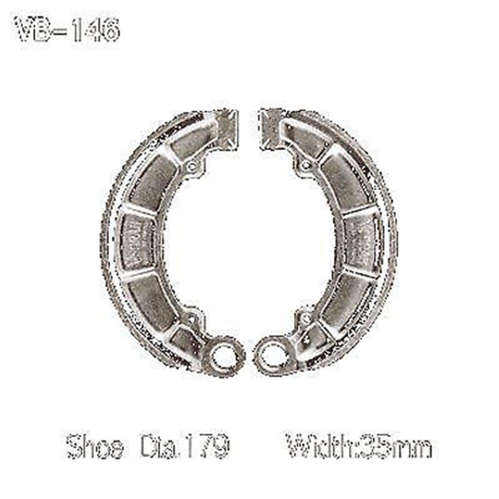 Honda Water Grooved Rear Brake Shoes Fourtrax Foreman