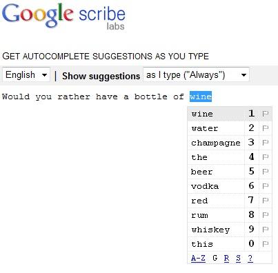 Google Scribe