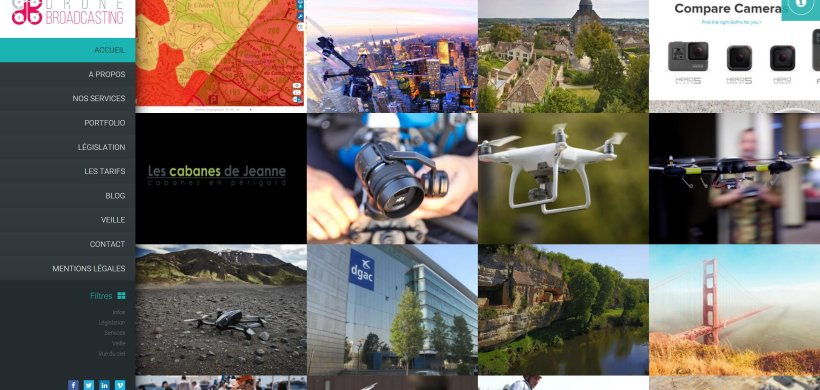 Un nouveau site dédié à mes activités vidéo Drone-Broadcasting.fr