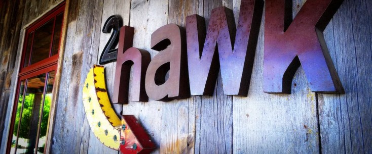 2Hawk Vineyard and Winery Exterior Tasting Room 2Hawk Arrow Signage