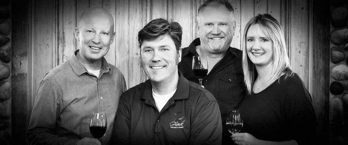2Hawk Vineyard and Winery Team (Grayscale)