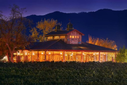 2Hawk Vineyard and Winery Tasting Room Night Shot