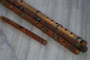 Holes in the Bamboo flutes