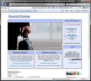 Home Page of Rentacoder.com