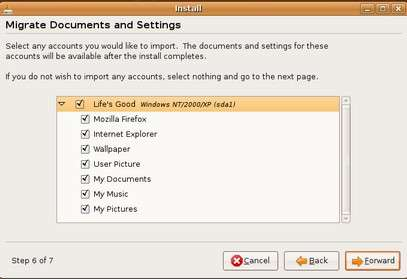 migrate documents and settings