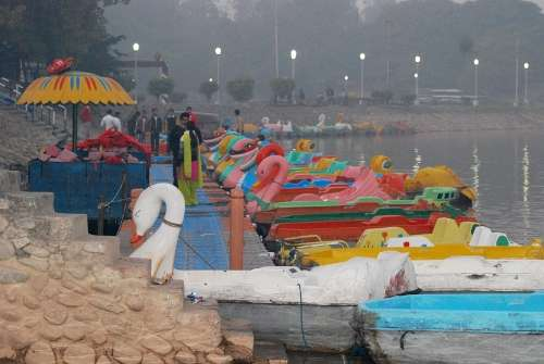 Boating and Yachting in Sukhna Lake Chandigarh