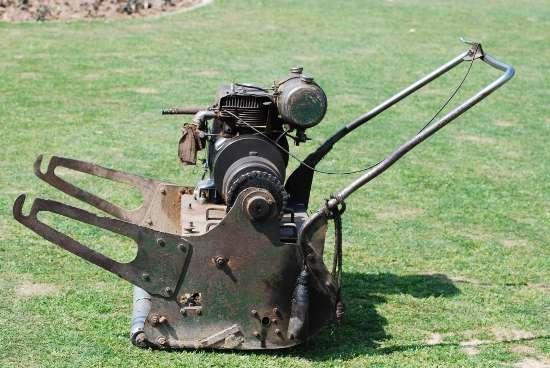 a lawnmower
