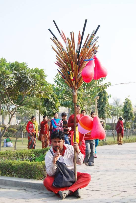 bansuri wala in a park
