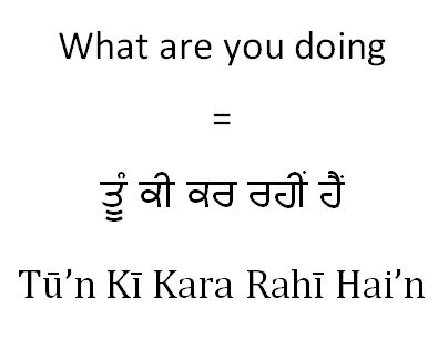 What are you doing in Punjabi (female young)