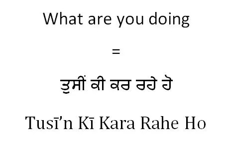 What are you doing in Punjabi