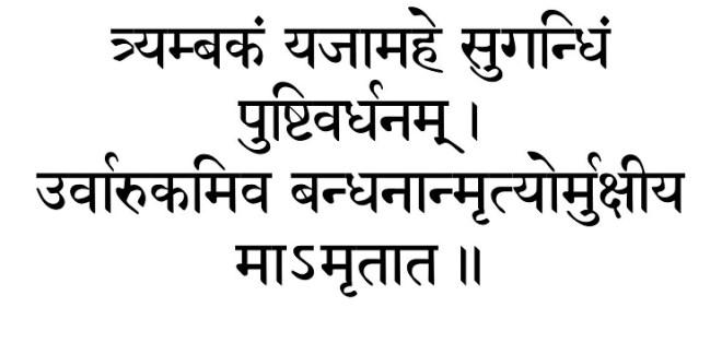 Tryambakam Shiva Mantra Sanskrit