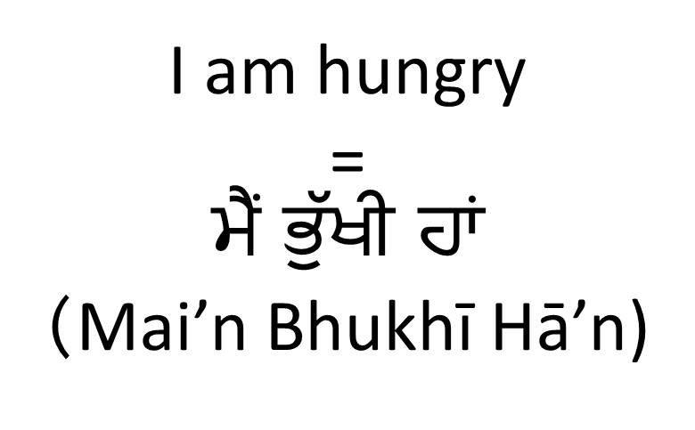 I am hungry in Punjabi (female)