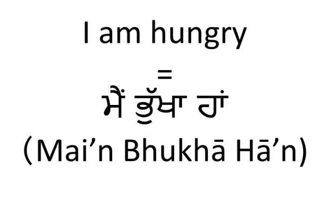 I am hungry in Punjabi (male)