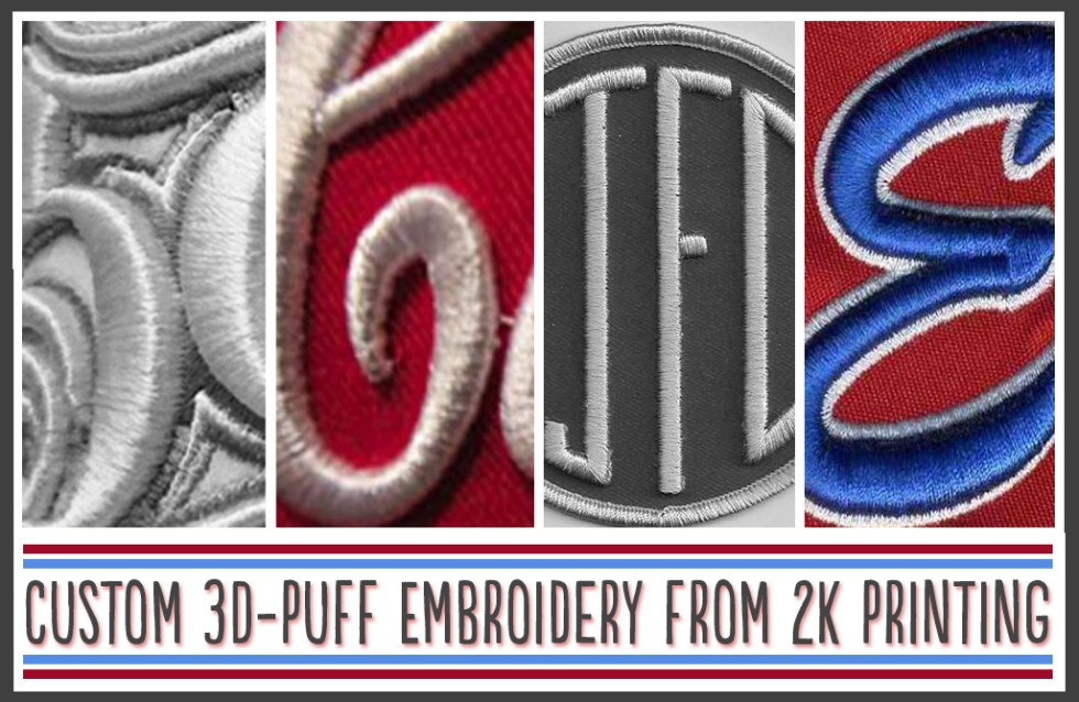 3-D Puff Embroidering on Hats and Apparel